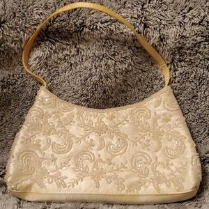 Beautifully  Beaded Off White Clutch